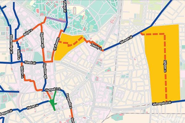 debrecen bicikliút térkép Wifis biciklitároló is lesz az új kerékpárutak mentén Debrecenben  debrecen bicikliút térkép