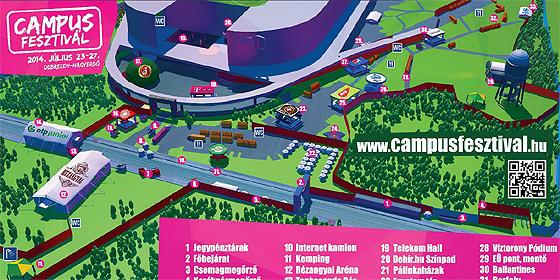 debrecen 3d térkép Itt a Campus Fesztivál térképe, a stadionban lesz a Dehir színpad  debrecen 3d térkép