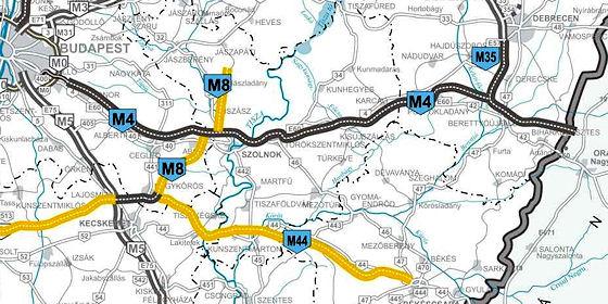 m4 autópálya térkép Egyszerre két autópályát építenek majd Hajdú Bihar megyében
