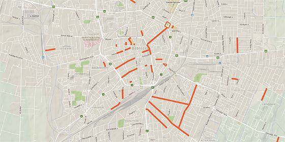 debrecen térkép utcákkal Új Főnix Terv: kétszáz milliárd forintból fejlesztenek a következő  debrecen térkép utcákkal