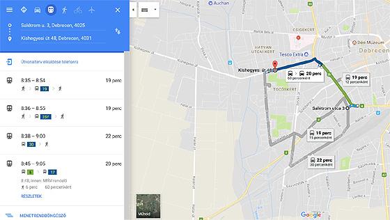 Mar A Google Terkepen Is Elerheto A Dkv Menetrendje Videoval