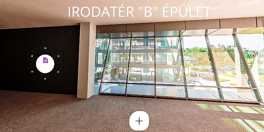 Virtuális túrát tehetünk Debrecen épülő, szupermodern irodaházában